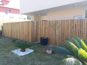 muro de eucalipto tratado